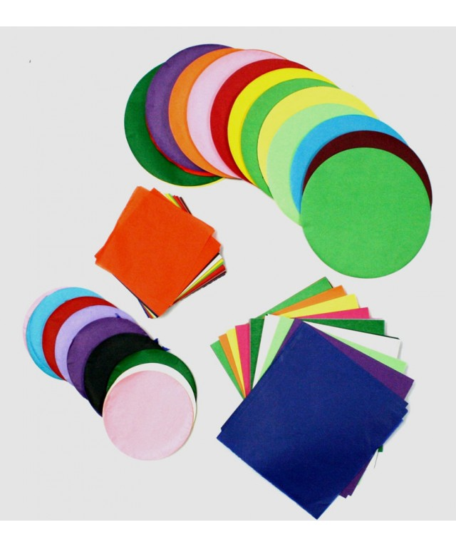 Tissue Paper 100mm Squares Assorted