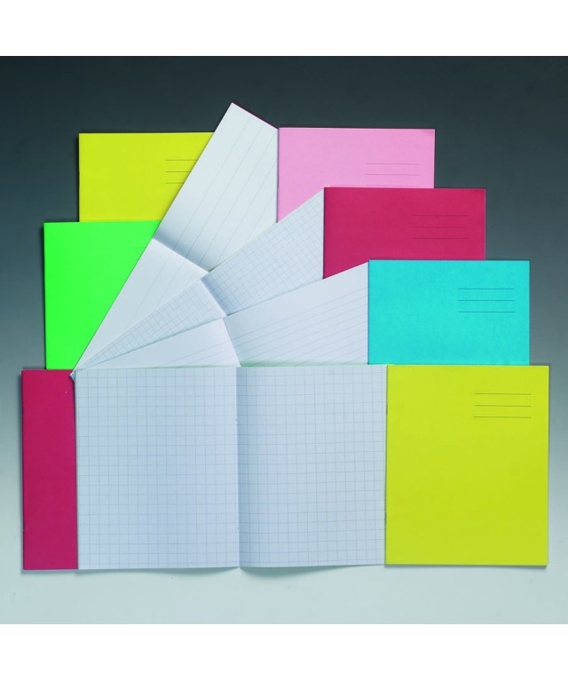 Exercise Books 8 X 6.5 48 Page 12mm Feint Red