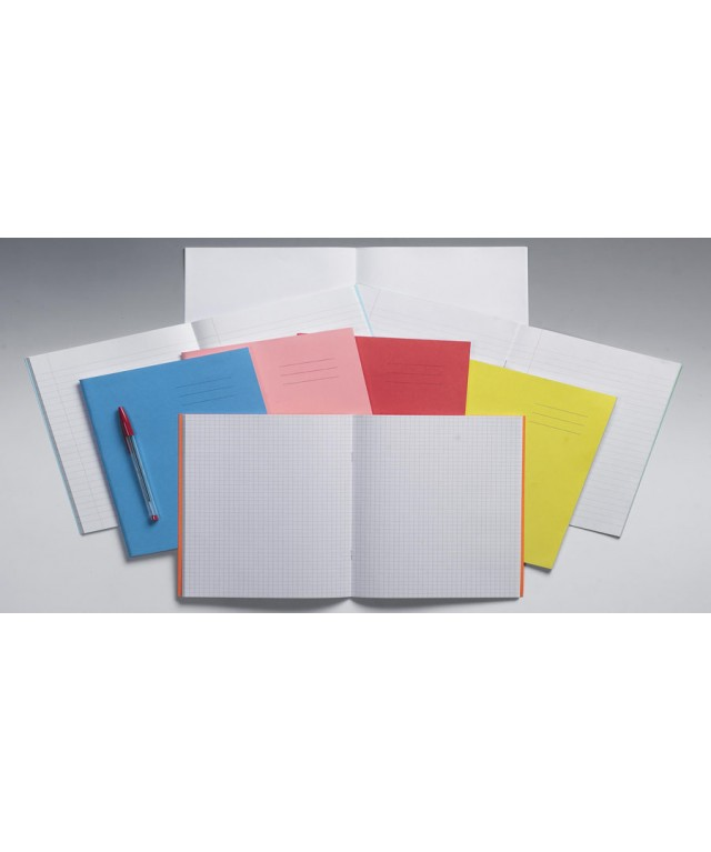 Exercise Books 9 X 7 80 Page 5mm Squares Red