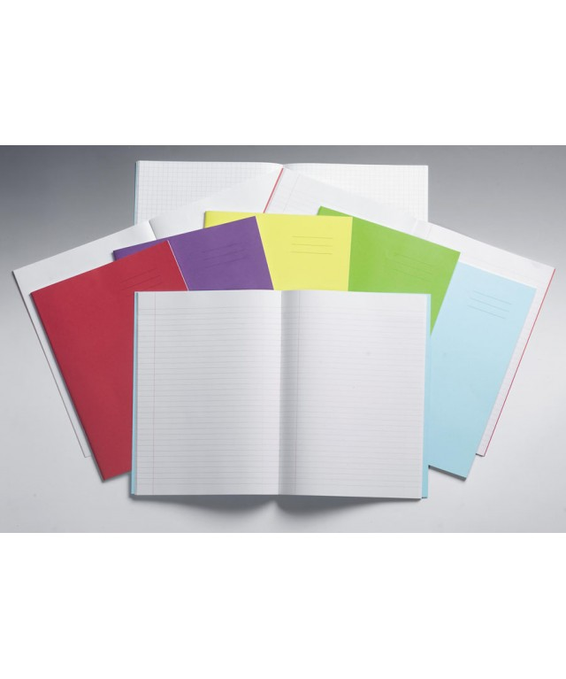 Exercise Books A4 64 Page 8mm/Blank Alternate Light Green