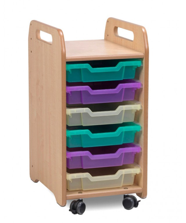 1 Column Tray Storage Unit - 6 Shallow Trays