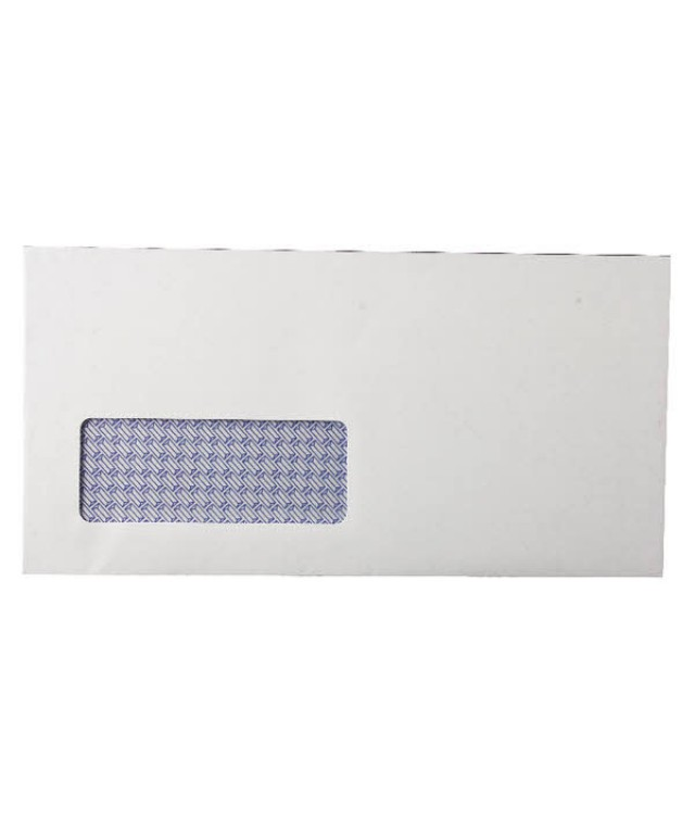 DL Window Wallet S/S Env White 80gsm