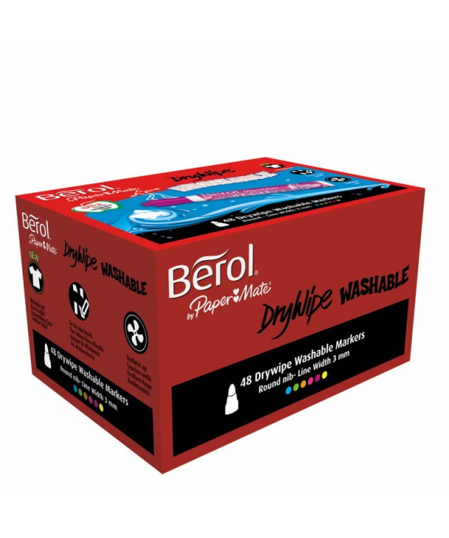 Berol Washable Drywipe Markers Assorted