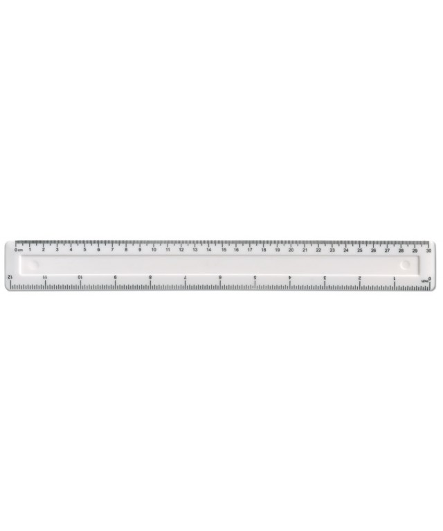 "School Essentials 12""/30cm White Shatterproof Ruler"